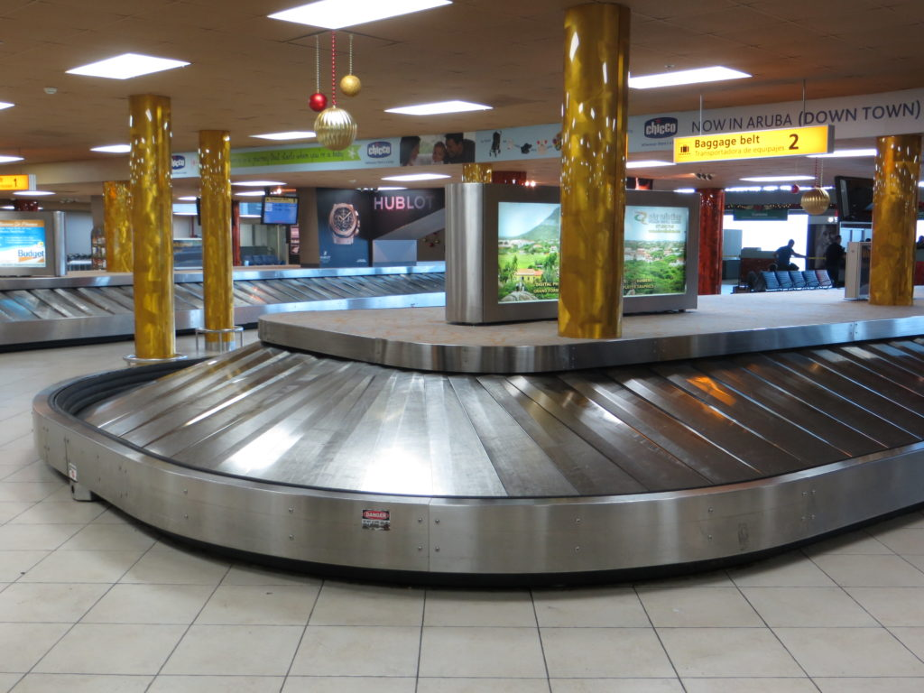 Baggage hall at Aruba Airport