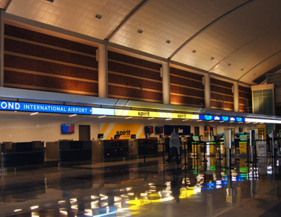 Video Ribbon Displays Light Up Richmond International Airport's Ticket Counters