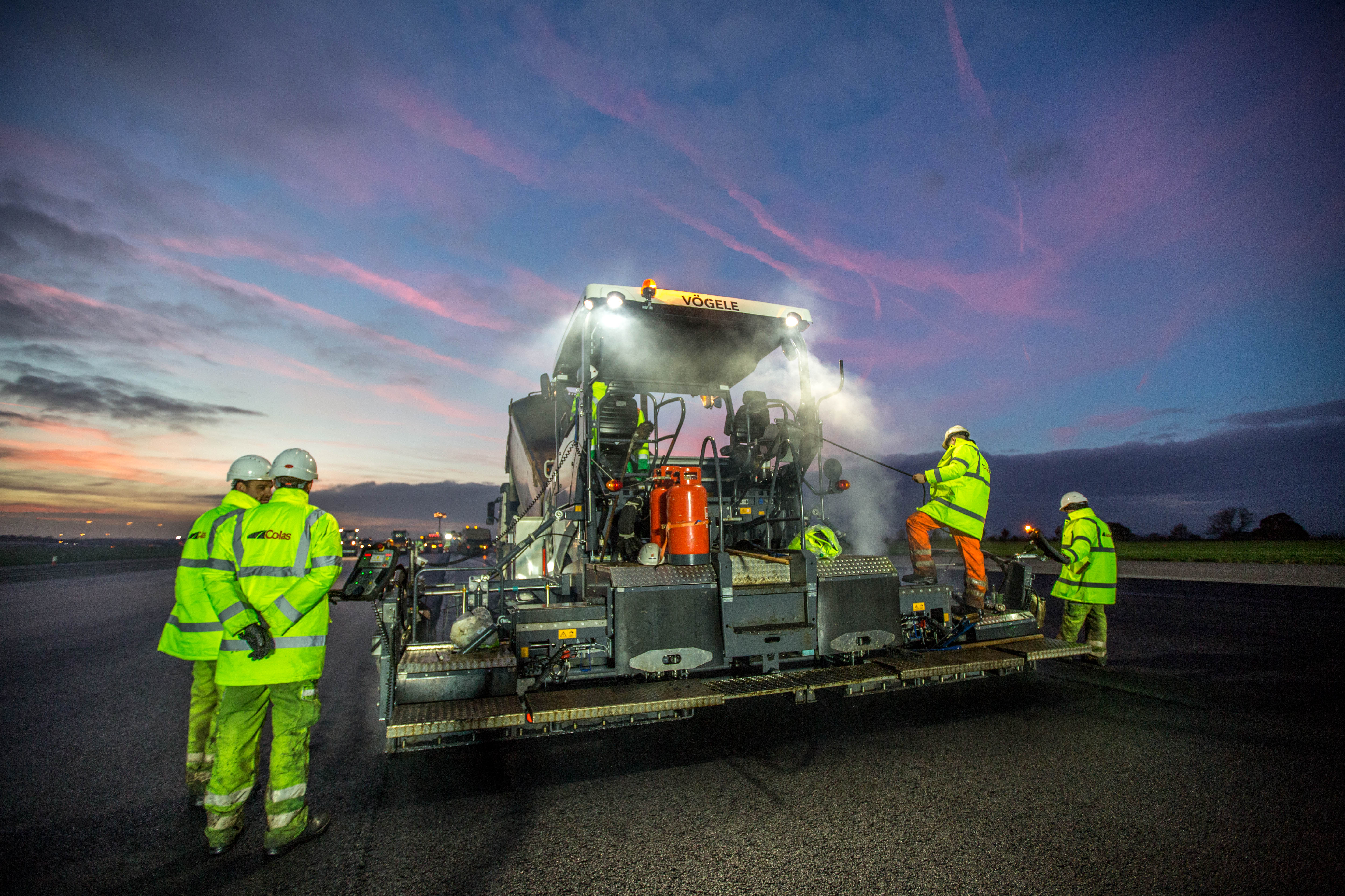 Colas uses BBA for East Midlands Airport Runway Resurfacing