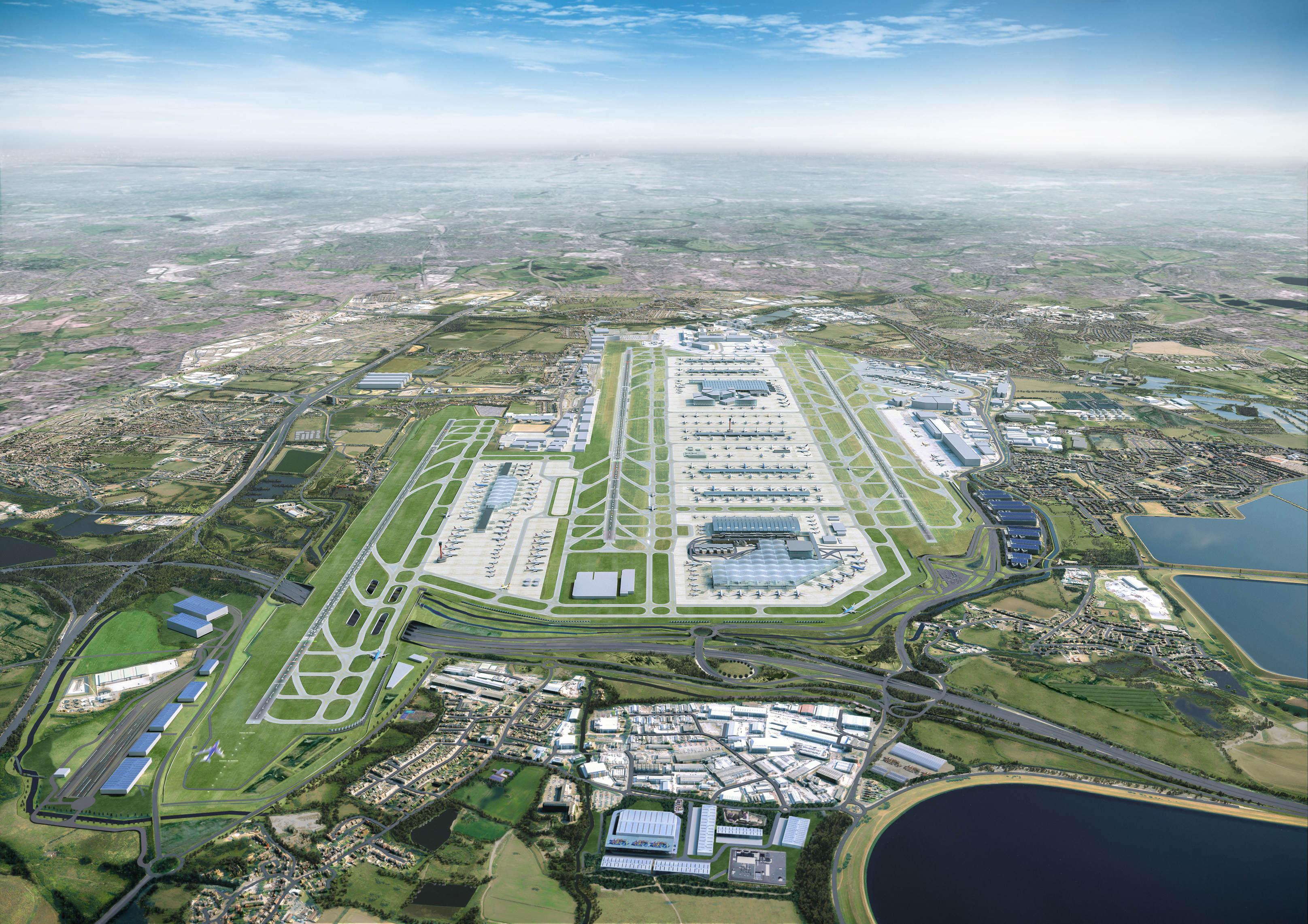 Heathrow expansion aerial
