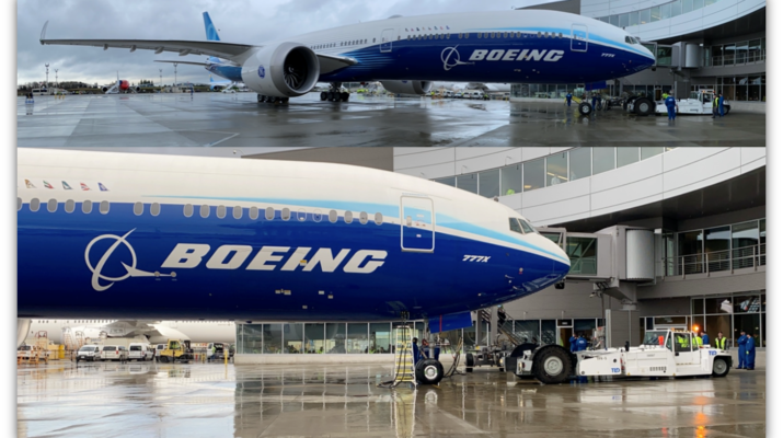Boeing for the 777X maiden flight