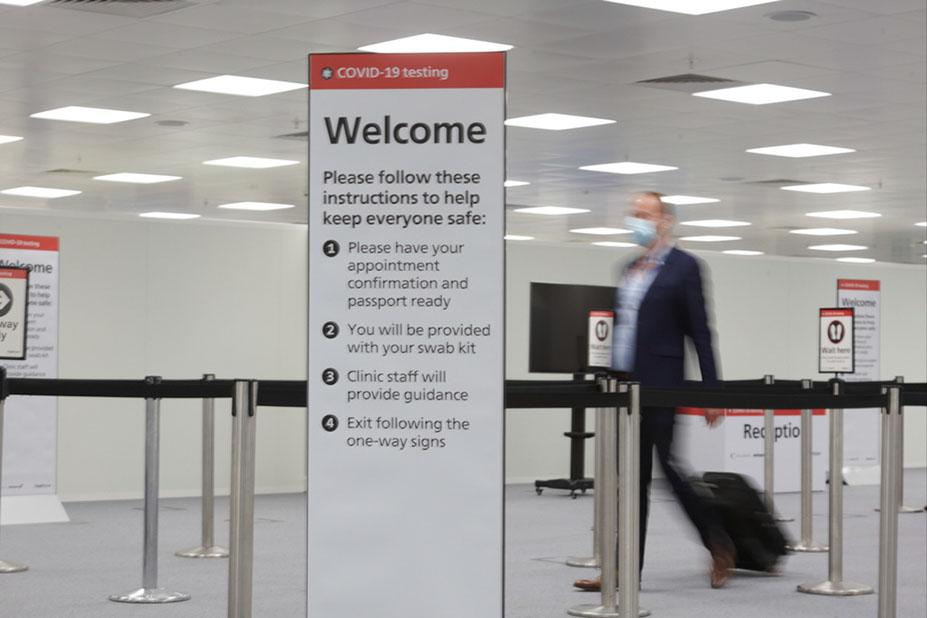 covid Heathrow testing facility