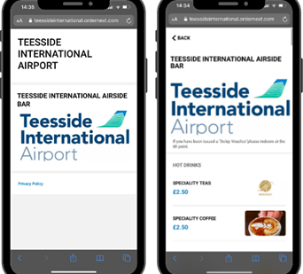 New Mobile Food & Drink Ordering Service at Teesside Airport