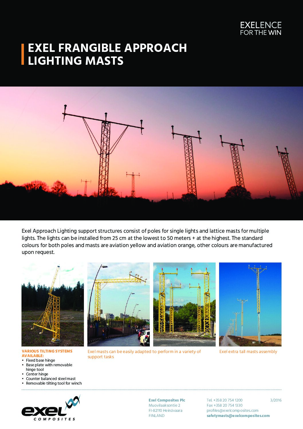 Exel Frangible Approach Lighting Masts