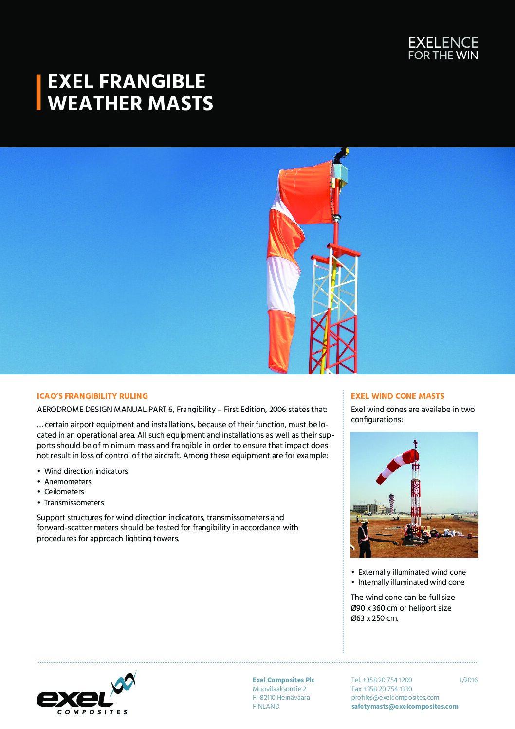 Exel Frangible Weather Masts