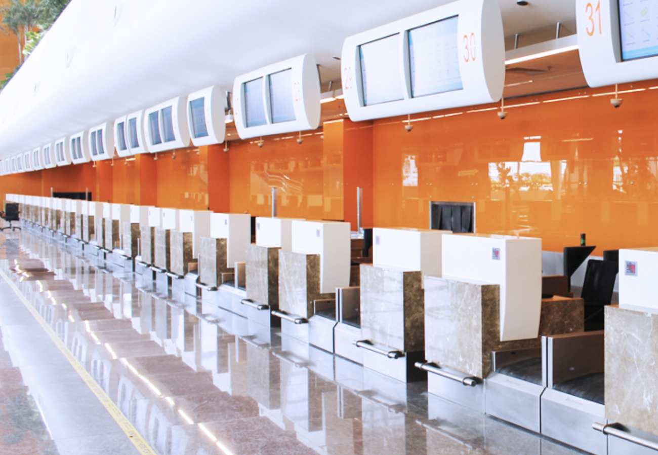 40 custom design check-in counters for Kempegowda International Airport