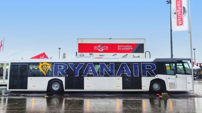 Mallaghan Ryanair contract airport bus