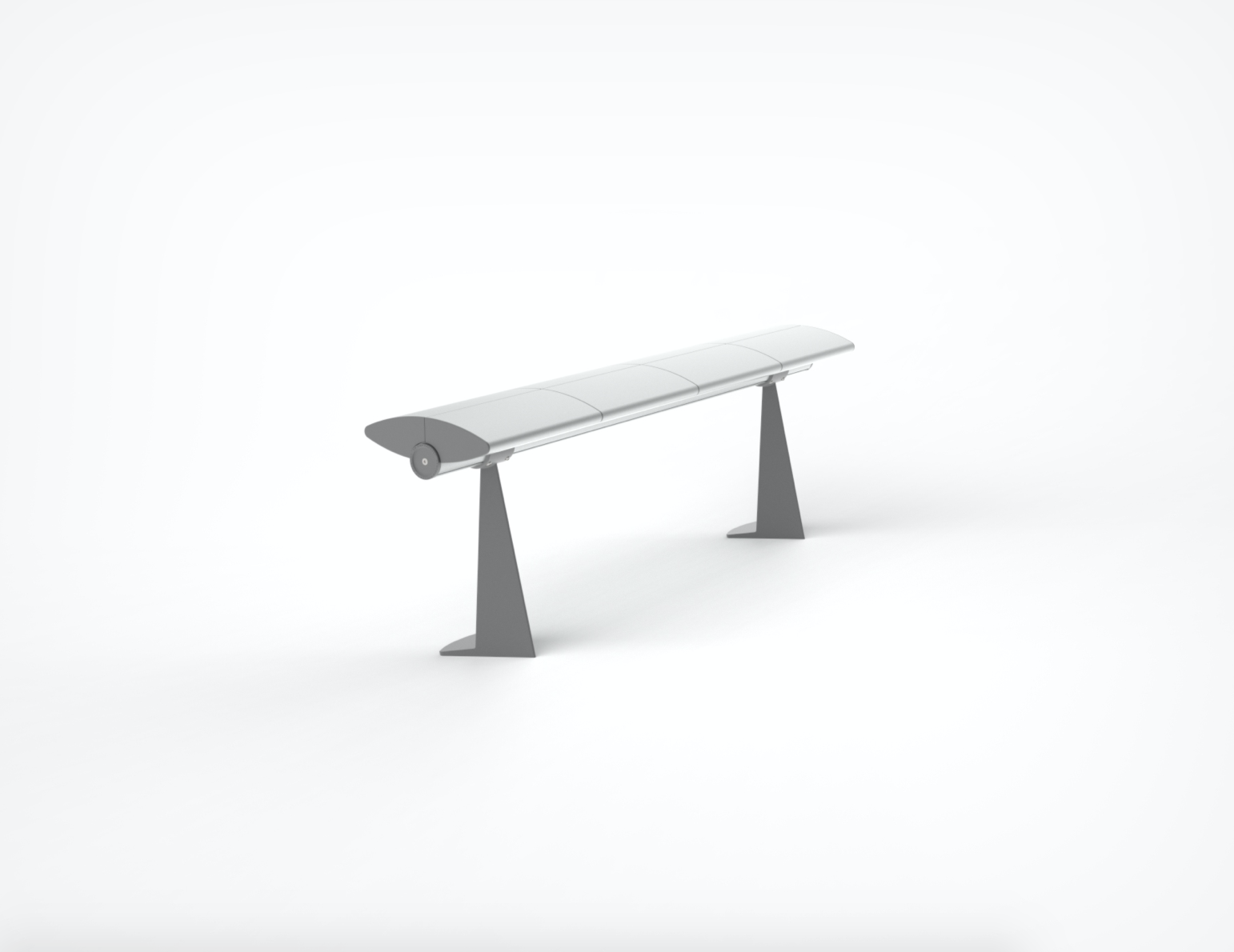 Seville - Continuous Bench with Floor Fixed leg