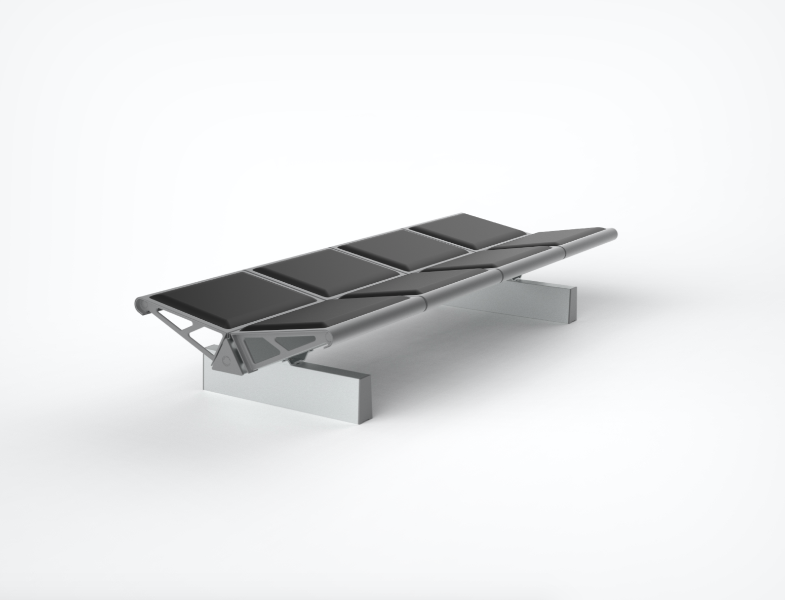 Trax - Backless Bench with Moulded Polyurethane pads