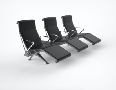 OMK | Trax High Back and footrest, fully upholstered with chrome arm finish