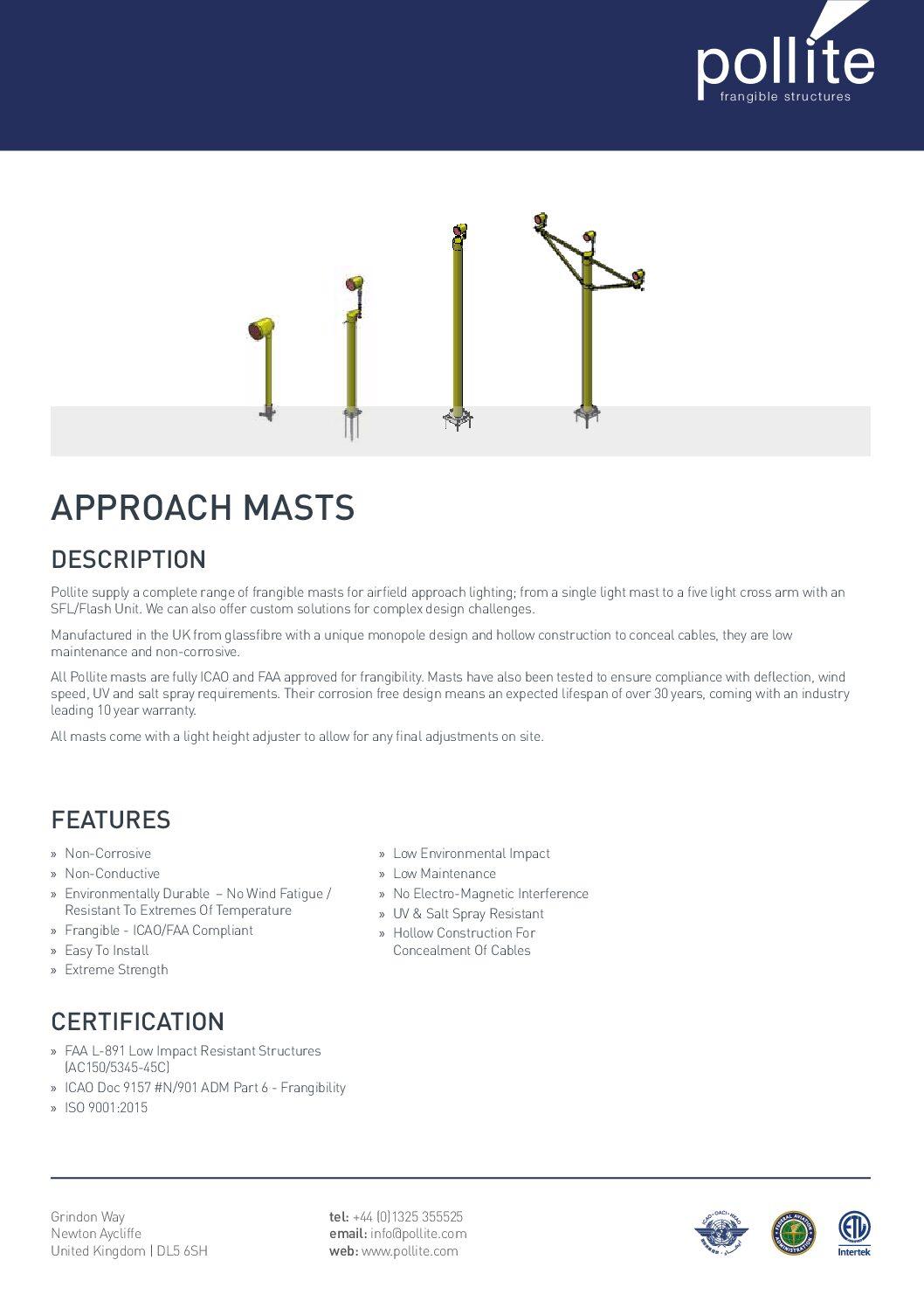 Approach Masts Data Sheet
