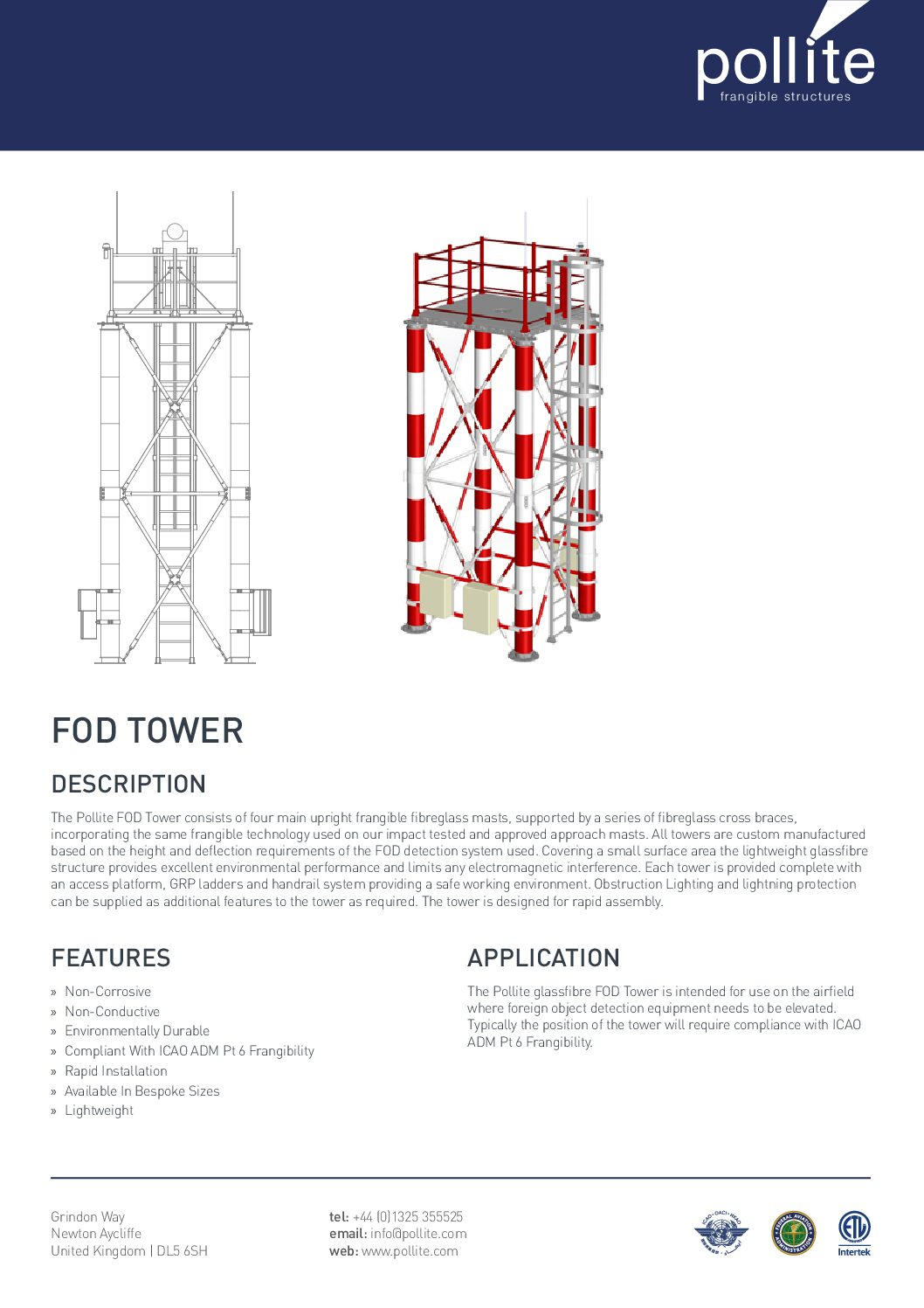 FOD Tower Data Sheet