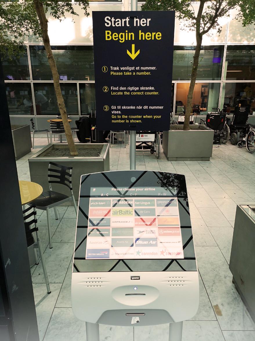 Qmatic Orchestra 7 at Copenhagen airport transfer center