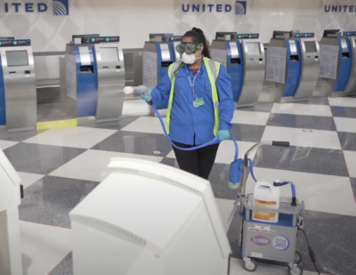 United Airlines Now Using Clorox® to Disinfect Terminals
