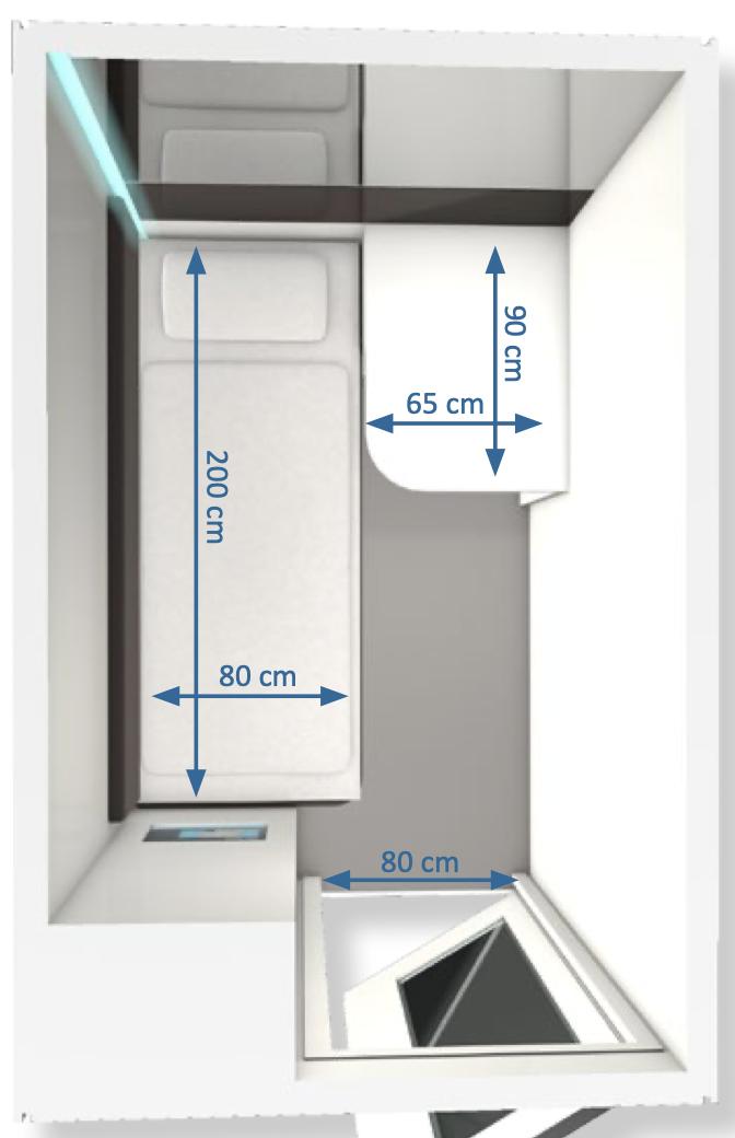 Standard cabin configuration