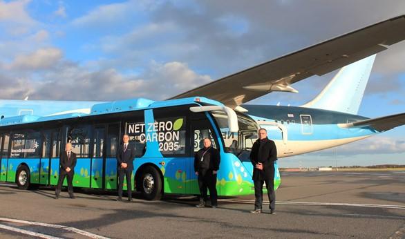 Newcastle Airport net zero electric bus