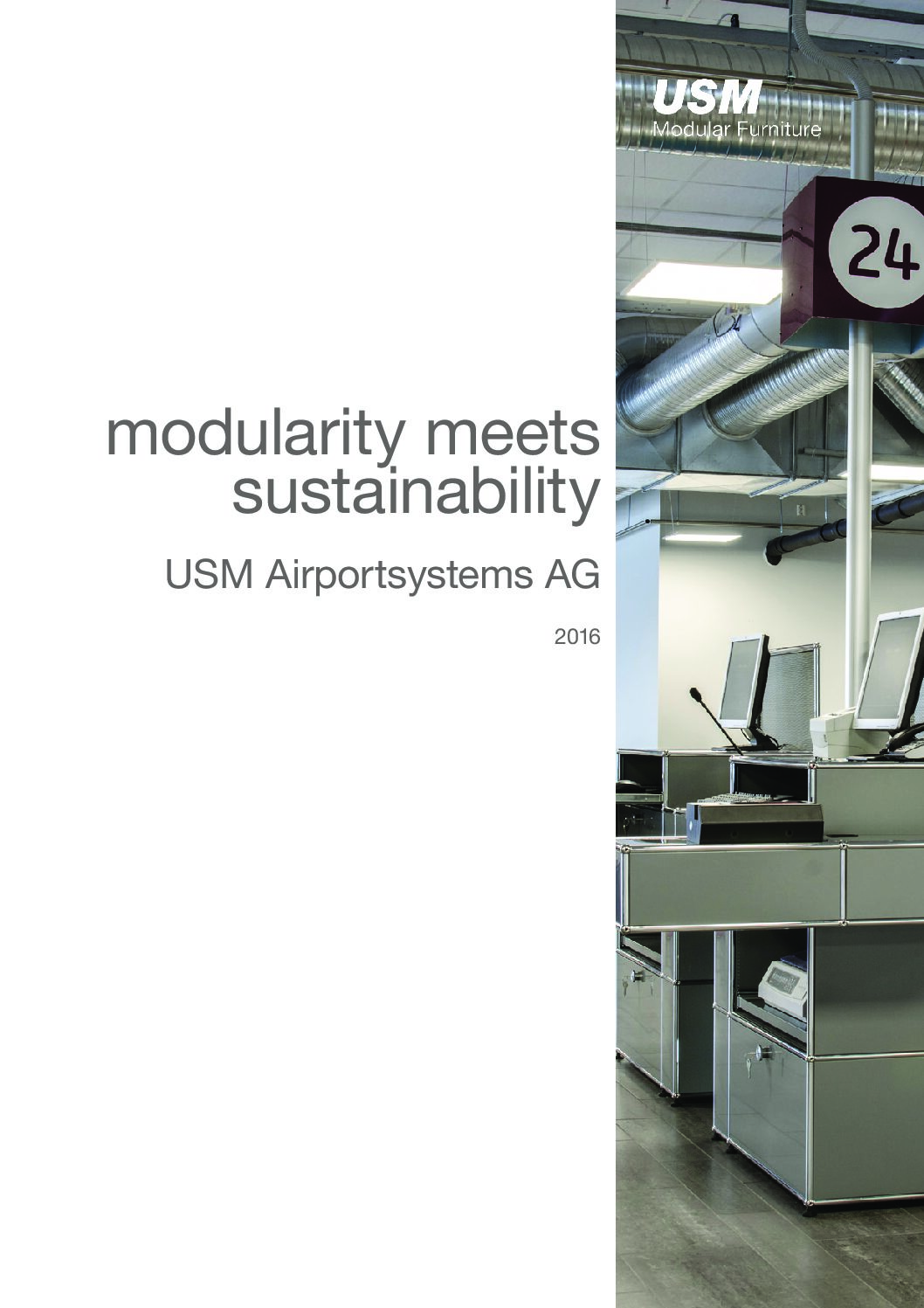 USM Modular Furniture Airport Brochure