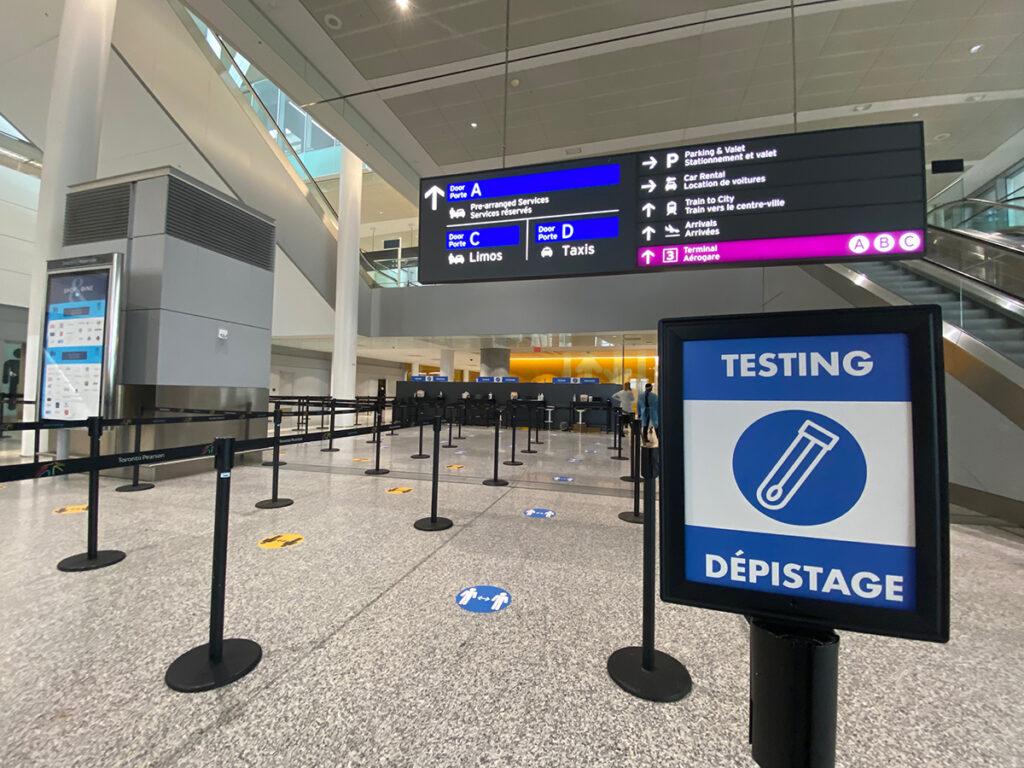Pearson Airport testing
