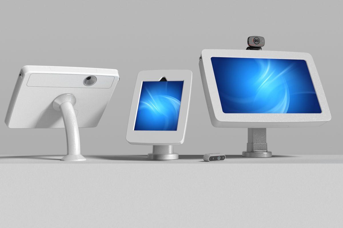 Camera kiosks for facial recognition, temperature verification or access control.