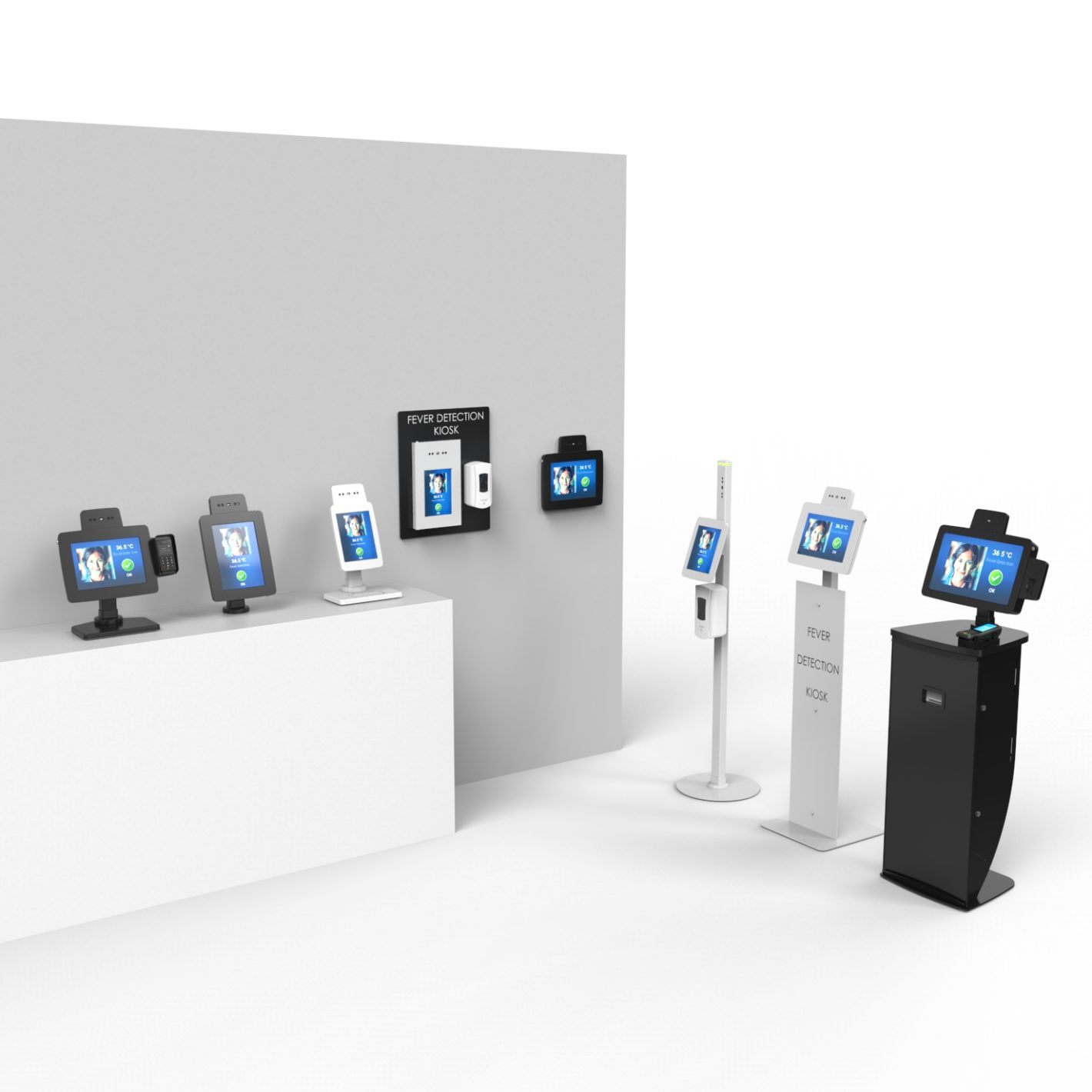 Covid-19 Touchless and Temperature Screening Kiosks