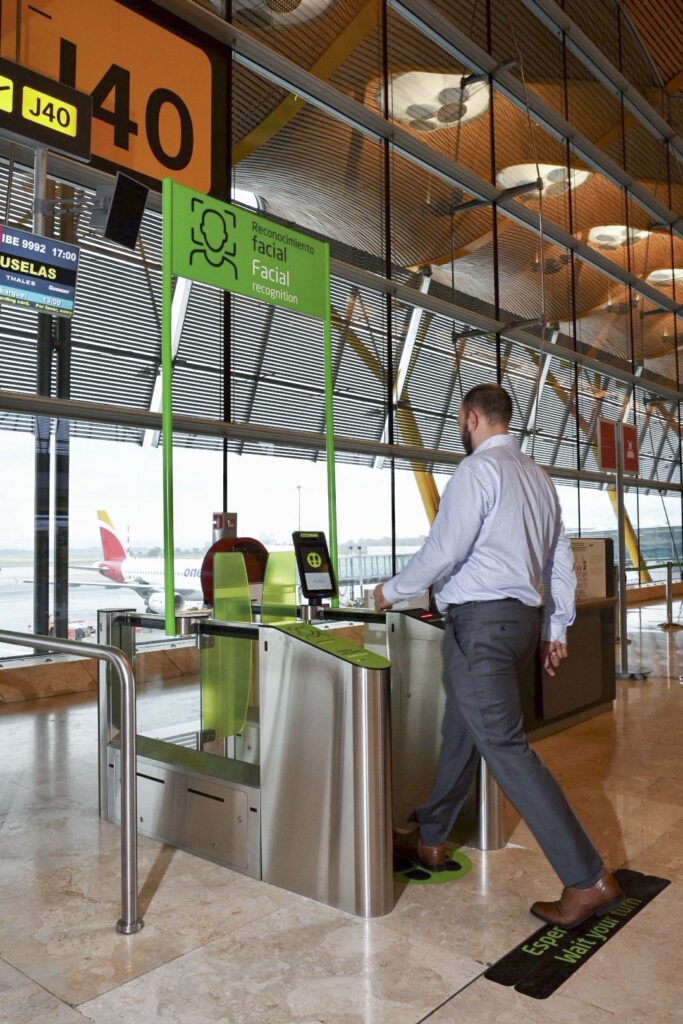Facial Recognition madrid airport aena biometric detection