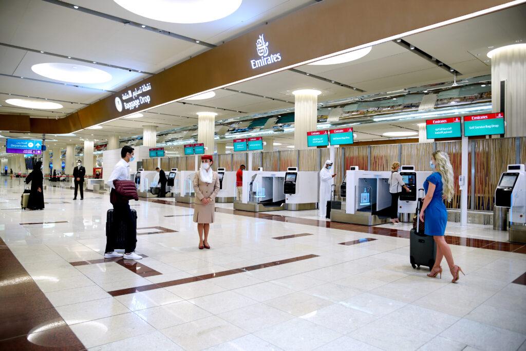 emirates touchless check-in Dubai