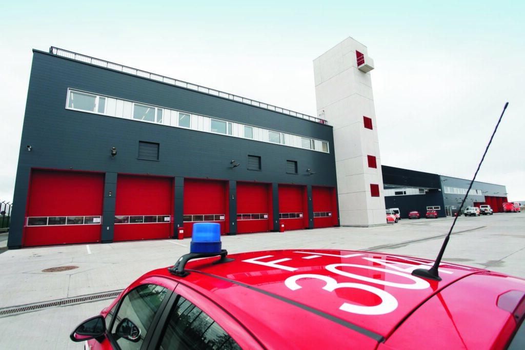 Frankfurt airport fire station