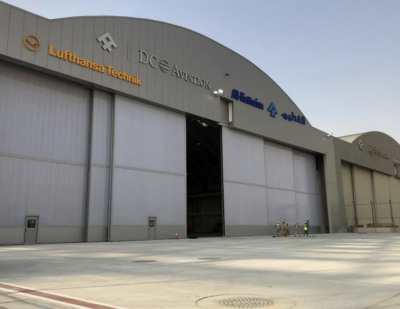 Esavian Doors for DC Aviation Hangars 1 & 2 at Al Maktoum International Airport, Dubai