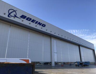 Jewers Doors Boeing Goldcare Hangar at Gatwick Airport