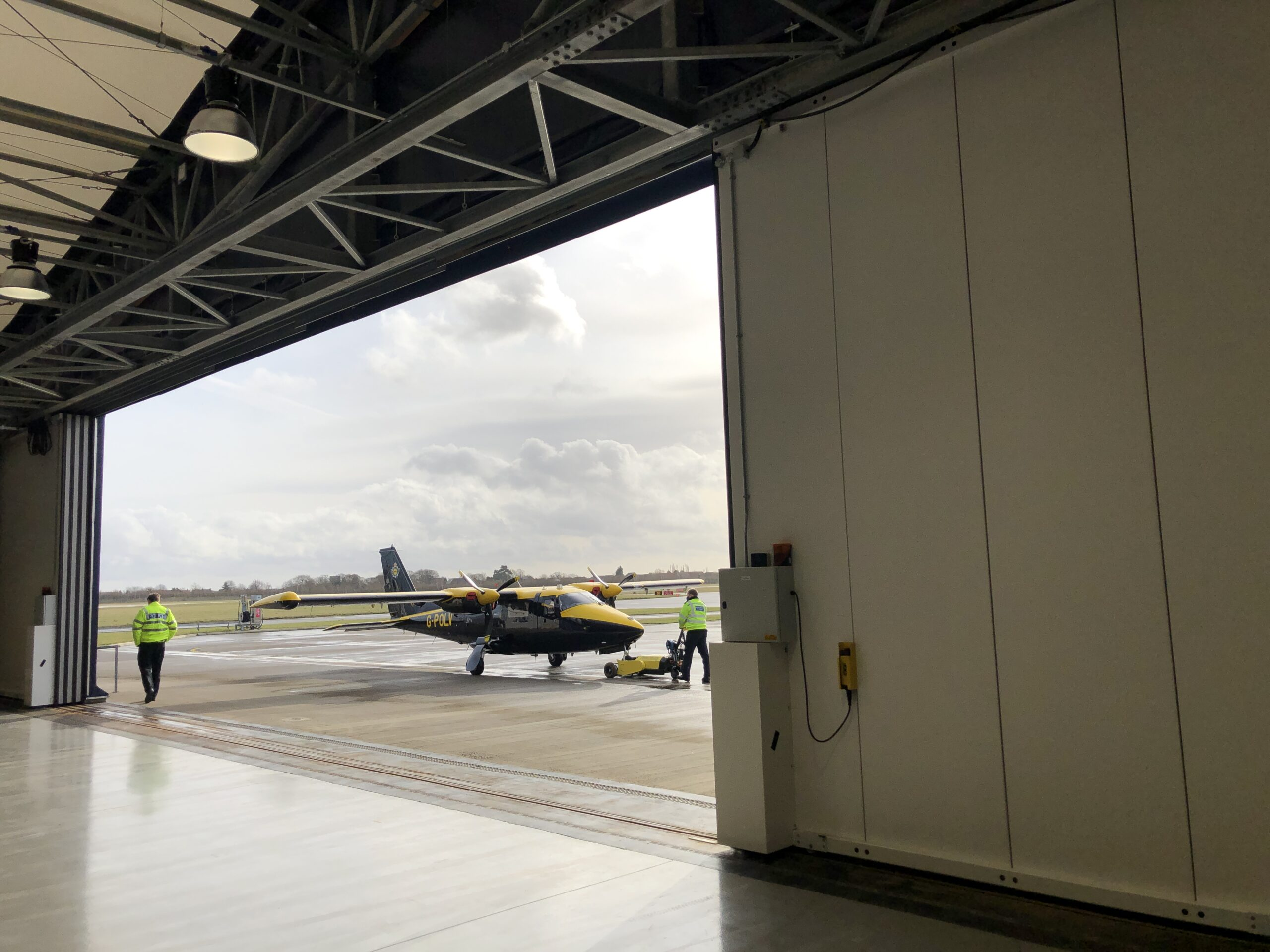 NPAS at Doncaster Airport (National Police Air Service) 2017 – A set of our Kingfisher electrically operated sliding doors