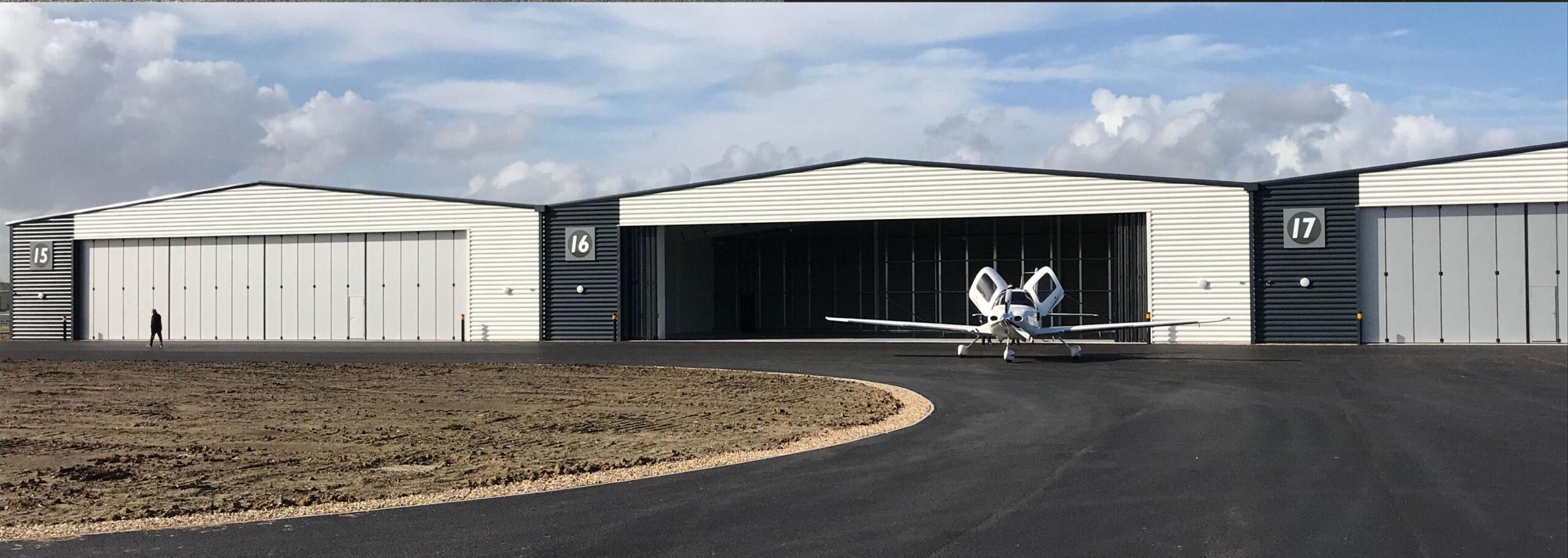 Former Daedalus site in Hampshire, Solent Airport – Eleven Osprey sliding folding doors – Five General Aviation Hangars – 2018