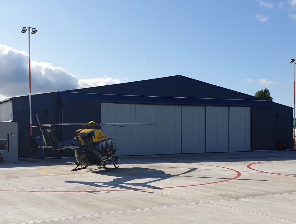 NPAS at North Weald Airfield (National Police Air Service) 2019 – A set of our Kingfisher electrically operated sliding doors
