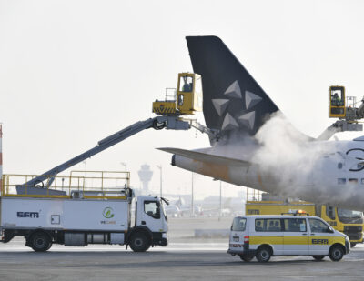 E-Mobility on the Rise at Munich Airport with Electric De-icing Vehicle