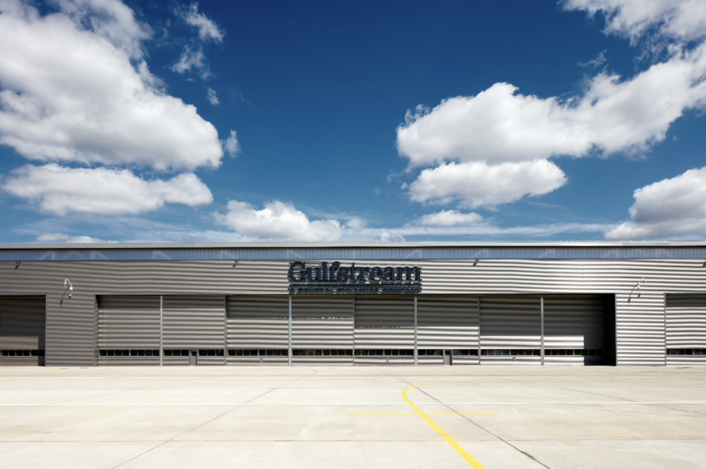 Jewers Doors Gulfstream Aerospace at Farnborough Airport