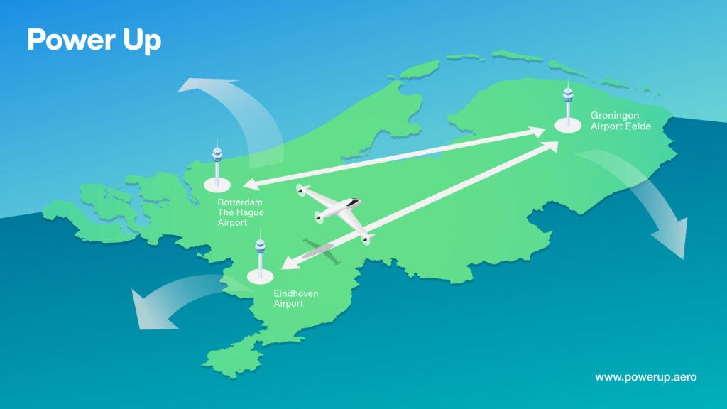 electric flying Netherlands