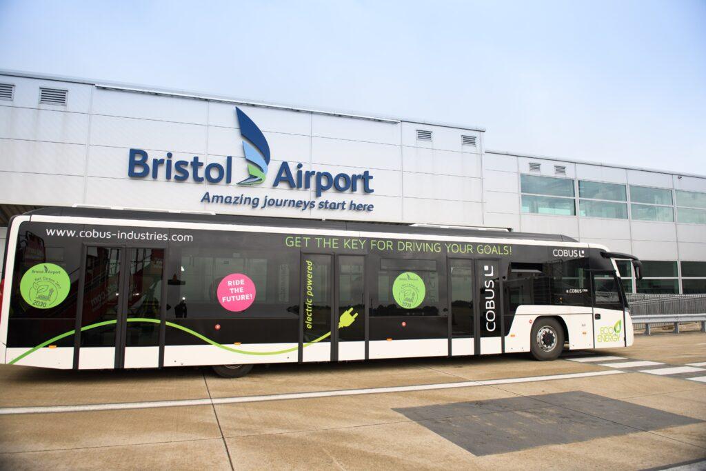 bristol airport electric bus