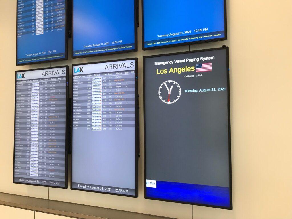 LAX earthquake warning system