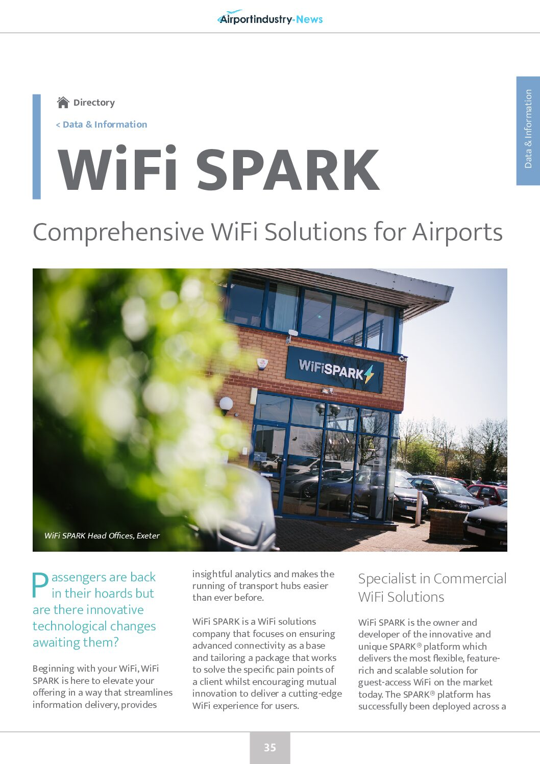 WiFi SPARK – Comprehensive WiFi Solutions for Airports