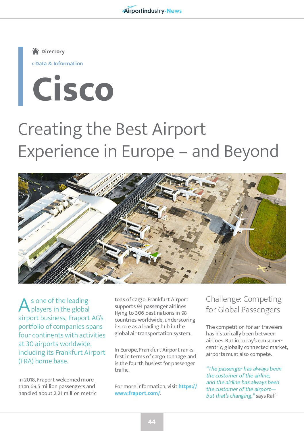 Creating the Best Airport Experience in Europe – and Beyond