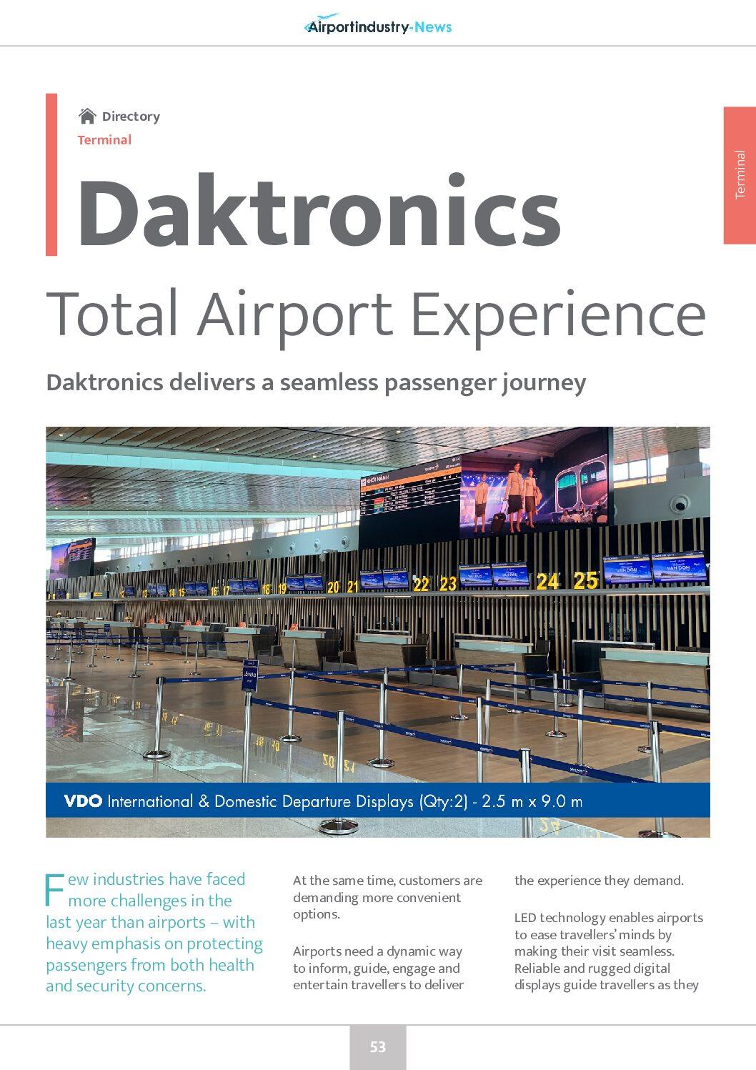 Daktronics – Total Airport Experience