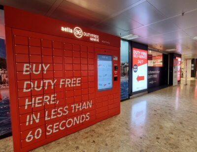 Lagardère and Inflyter Launch World's First Digital Duty Free Vending Machine